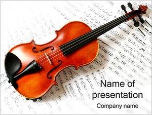 Шаблон презентации PowerPoint: Скрипка и ноты