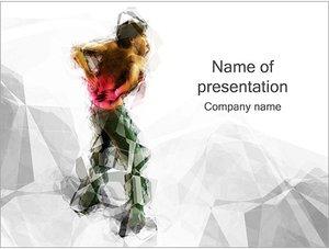 Шаблон презентации PowerPoint: Боль в спине и позвоночнике