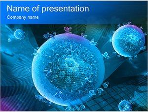 Шаблон презентации PowerPoint: Абстрактные сферы с растениями