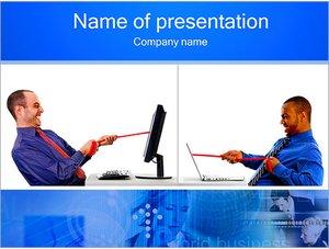 Шаблон презентации PowerPoint: Бизнес конкуренция