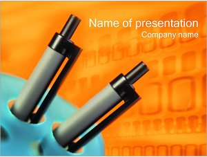 Шаблон презентации PowerPoint: Шариковые авторучки