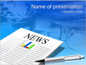 Шаблон презентации PowerPoint: Новостная газета
