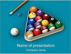 Шаблон презентации PowerPoint: Бильярд