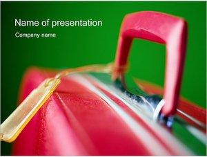 Шаблон презентации PowerPoint: Багаж чемодан