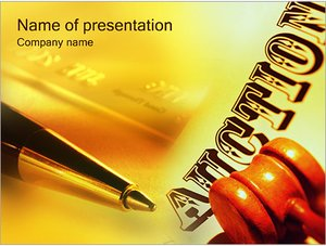Шаблон презентации PowerPoint: Аукцион