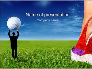 Шаблон презентации PowerPoint: Гольф