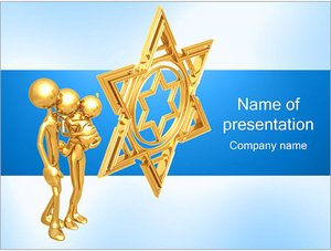 Шаблон презентации PowerPoint: Еврейская семья