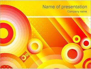 Шаблон презентации PowerPoint: Желтые круги