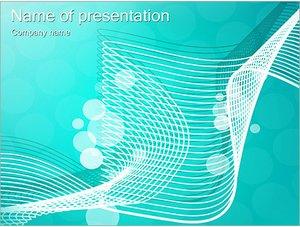 Шаблон презентации PowerPoint: Бирюзовая сетка