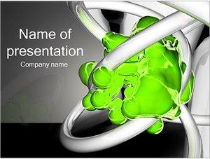 Шаблон презентации PowerPoint: Зеленая жидкость