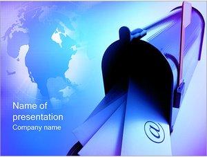 Шаблон презентации PowerPoint: Почтовый ящик с письмами