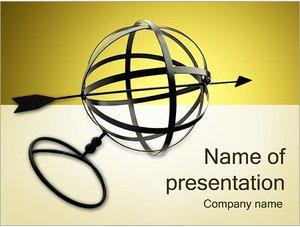 Шаблон презентации PowerPoint: Сфера и стрелка