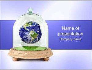 Шаблон презентации PowerPoint: Планета земля в изоляции