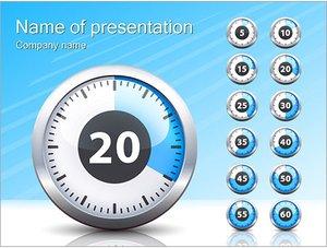 Шаблон презентации PowerPoint: Секундомер