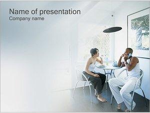 Шаблон презентации PowerPoint: Семейный обед