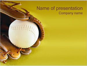 Шаблон презентации PowerPoint: Бейсбол