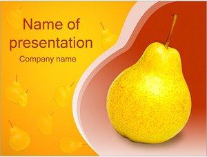 Шаблон презентации PowerPoint: Груша