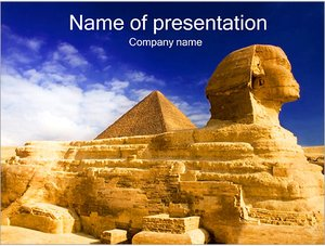 Шаблон презентации PowerPoint: Пирамида Сфинкс