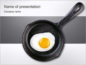 Шаблон презентации PowerPoint: Жареное яйцо на сковороде