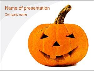 Шаблон презентации PowerPoint: Тыква на хэллоуин