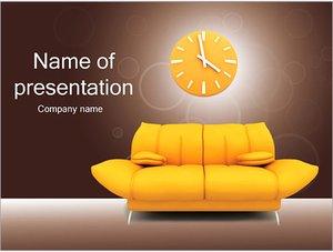 Шаблон презентации PowerPoint: Диван и часы