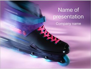 Шаблон презентации PowerPoint: Роликовые коньки