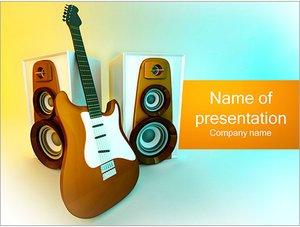 Шаблон презентации PowerPoint: Электрическая гитара