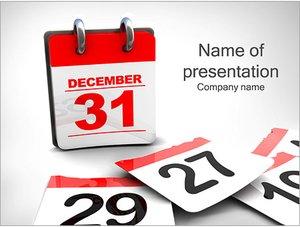 Шаблон презентации PowerPoint: Последний день года