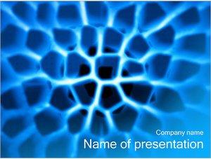 Шаблон презентации PowerPoint: Ткань под микроскопом