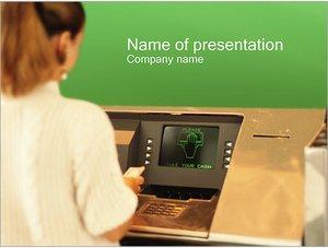 Шаблон презентации PowerPoint: Банкомат