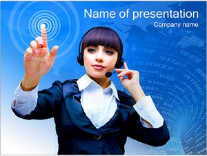 Шаблон презентации PowerPoint: Сенсорный экран