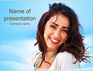 Шаблон презентации PowerPoint: Счастливая женщина