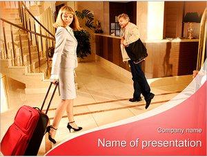Шаблон презентации PowerPoint: Гости в отеле