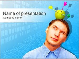 Шаблон презентации PowerPoint: Яблоко-мишень на голове