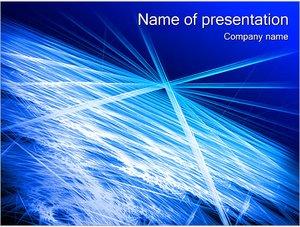 Шаблон презентации PowerPoint: Горизонт из космоса