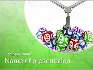 Шаблон презентации PowerPoint: Лотерея (лото)
