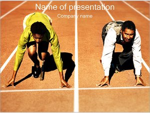 Шаблон презентации PowerPoint: Забег безнесменов