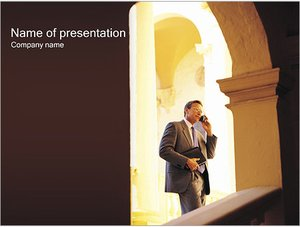 Шаблон презентации PowerPoint: Деловая беседа