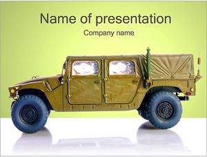 Шаблон презентации PowerPoint: Военный автомобиль