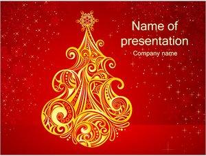 Шаблон презентации PowerPoint: Новогодняя елка