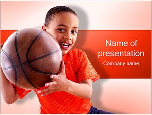 Шаблон презентации PowerPoint: Мальчик с мячом