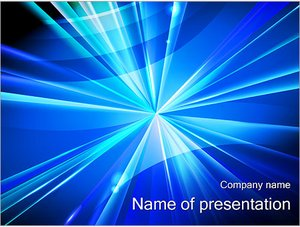 Шаблон презентации PowerPoint: Светящаяся точка