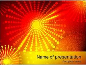 Шаблон презентации PowerPoint: Красные и желтые точки