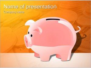 Шаблон презентации PowerPoint: Копилка для денег