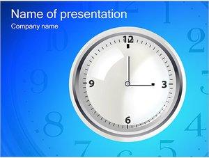 Шаблон презентации PowerPoint: Простые настенные часы