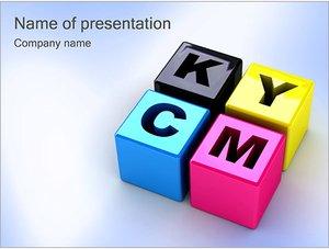 Шаблон презентации PowerPoint: CMYK цветовая схема