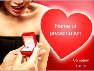 Шаблон презентации PowerPoint: Обручальное кольцо