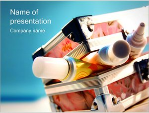 Шаблон презентации PowerPoint: Коробка с красками