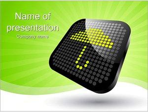 Шаблон презентации PowerPoint: Знак зонт