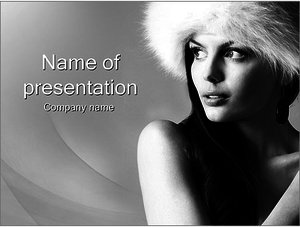 Шаблон презентации PowerPoint: Красивая женщина